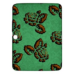 Chocolate Background Floral Pattern Samsung Galaxy Tab 3 (10 1 ) P5200 Hardshell Case