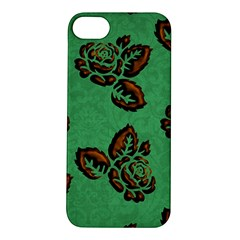 Chocolate Background Floral Pattern Apple Iphone 5s/ Se Hardshell Case