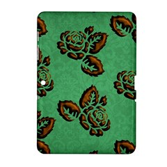 Chocolate Background Floral Pattern Samsung Galaxy Tab 2 (10 1 ) P5100 Hardshell Case  by Nexatart