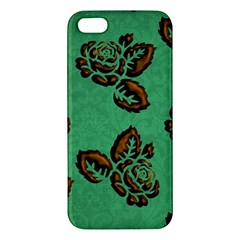 Chocolate Background Floral Pattern Iphone 5s/ Se Premium Hardshell Case