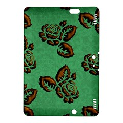 Chocolate Background Floral Pattern Kindle Fire Hdx 8 9  Hardshell Case