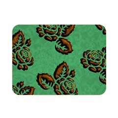 Chocolate Background Floral Pattern Double Sided Flano Blanket (mini)