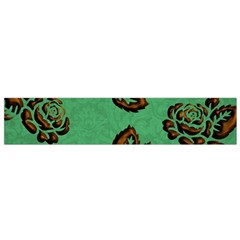 Chocolate Background Floral Pattern Flano Scarf (small)