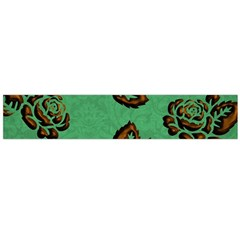 Chocolate Background Floral Pattern Flano Scarf (large)