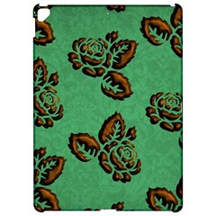 Chocolate Background Floral Pattern Apple Ipad Pro 12 9   Hardshell Case by Nexatart