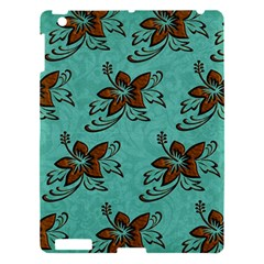Chocolate Background Floral Pattern Apple Ipad 3/4 Hardshell Case