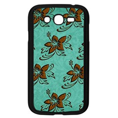 Chocolate Background Floral Pattern Samsung Galaxy Grand Duos I9082 Case (black)