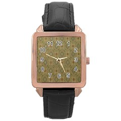 P¨|cs Hungary City Five Churches Rose Gold Leather Watch  by Nexatart