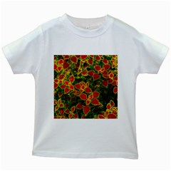 Flower Red Nature Garden Natural Kids White T Shirts
