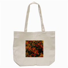 Flower Red Nature Garden Natural Tote Bag (cream)