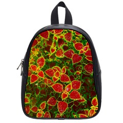Flower Red Nature Garden Natural School Bag (small)