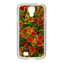 Flower Red Nature Garden Natural Samsung Galaxy S4 I9500/ I9505 Case (white)