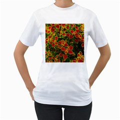 Flower Red Nature Garden Natural Women s T Shirt (white)
