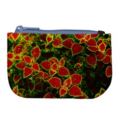 Flower Red Nature Garden Natural Large Coin Purse