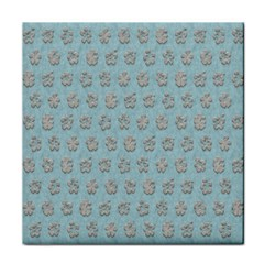 Texture Background Beige Grey Blue Tile Coasters