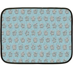 Texture Background Beige Grey Blue Double Sided Fleece Blanket (mini)  by Nexatart