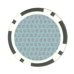 Texture Background Beige Grey Blue Poker Chip Card Guard (10 Pack)