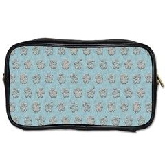 Texture Background Beige Grey Blue Toiletries Bags 2 Side