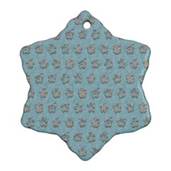 Texture Background Beige Grey Blue Ornament (snowflake)