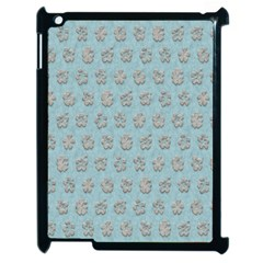 Texture Background Beige Grey Blue Apple Ipad 2 Case (black)