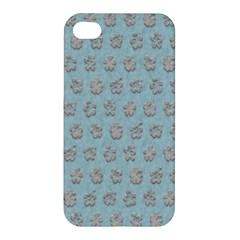 Texture Background Beige Grey Blue Apple Iphone 4/4s Premium Hardshell Case