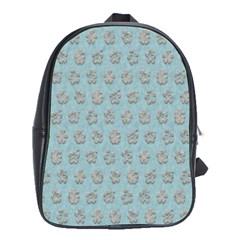 Texture Background Beige Grey Blue School Bag (xl)