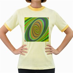 Ellipse Background Elliptical Women s Fitted Ringer T-Shirts