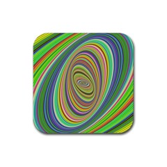 Ellipse Background Elliptical Rubber Coaster (square)