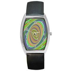 Ellipse Background Elliptical Barrel Style Metal Watch by Nexatart