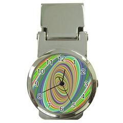 Ellipse Background Elliptical Money Clip Watches