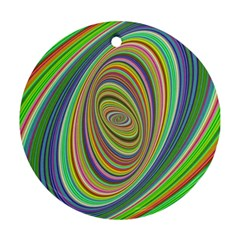 Ellipse Background Elliptical Round Ornament (Two Sides)