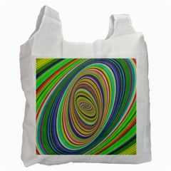 Ellipse Background Elliptical Recycle Bag (One Side)