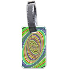 Ellipse Background Elliptical Luggage Tags (Two Sides)