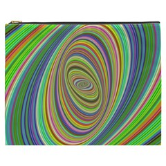 Ellipse Background Elliptical Cosmetic Bag (xxxl)  by Nexatart