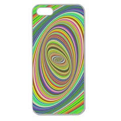 Ellipse Background Elliptical Apple Seamless iPhone 5 Case (Clear)