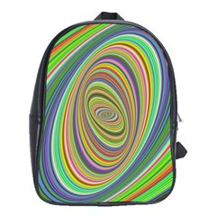 Ellipse Background Elliptical School Bag (xl)