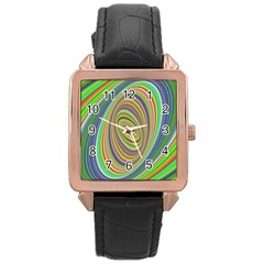 Ellipse Background Elliptical Rose Gold Leather Watch  by Nexatart
