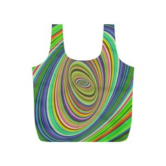Ellipse Background Elliptical Full Print Recycle Bags (S)