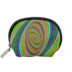 Ellipse Background Elliptical Accessory Pouches (Small)