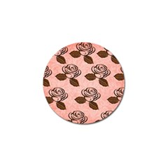 Chocolate Background Floral Pattern Golf Ball Marker