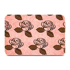 Chocolate Background Floral Pattern Plate Mats