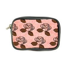 Chocolate Background Floral Pattern Coin Purse