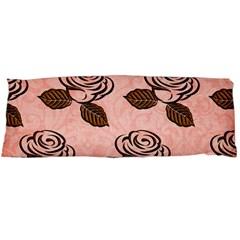 Chocolate Background Floral Pattern Body Pillow Case (dakimakura)