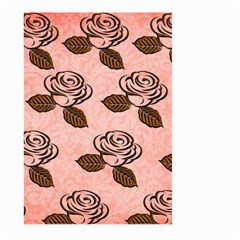Chocolate Background Floral Pattern Large Garden Flag (two Sides) by Nexatart