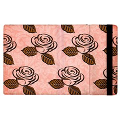 Chocolate Background Floral Pattern Apple Ipad 3/4 Flip Case