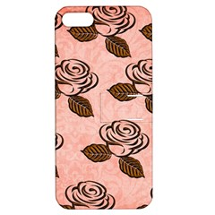 Chocolate Background Floral Pattern Apple Iphone 5 Hardshell Case With Stand by Nexatart