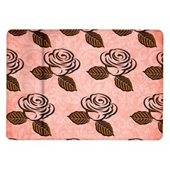 Chocolate Background Floral Pattern Samsung Galaxy Tab 10 1  P7500 Flip Case by Nexatart