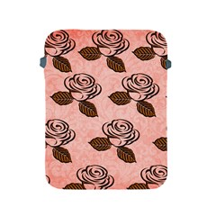 Chocolate Background Floral Pattern Apple Ipad 2/3/4 Protective Soft Cases by Nexatart
