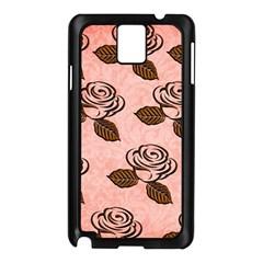 Chocolate Background Floral Pattern Samsung Galaxy Note 3 N9005 Case (black)