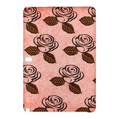 Chocolate Background Floral Pattern Samsung Galaxy Tab Pro 10 1 Hardshell Case